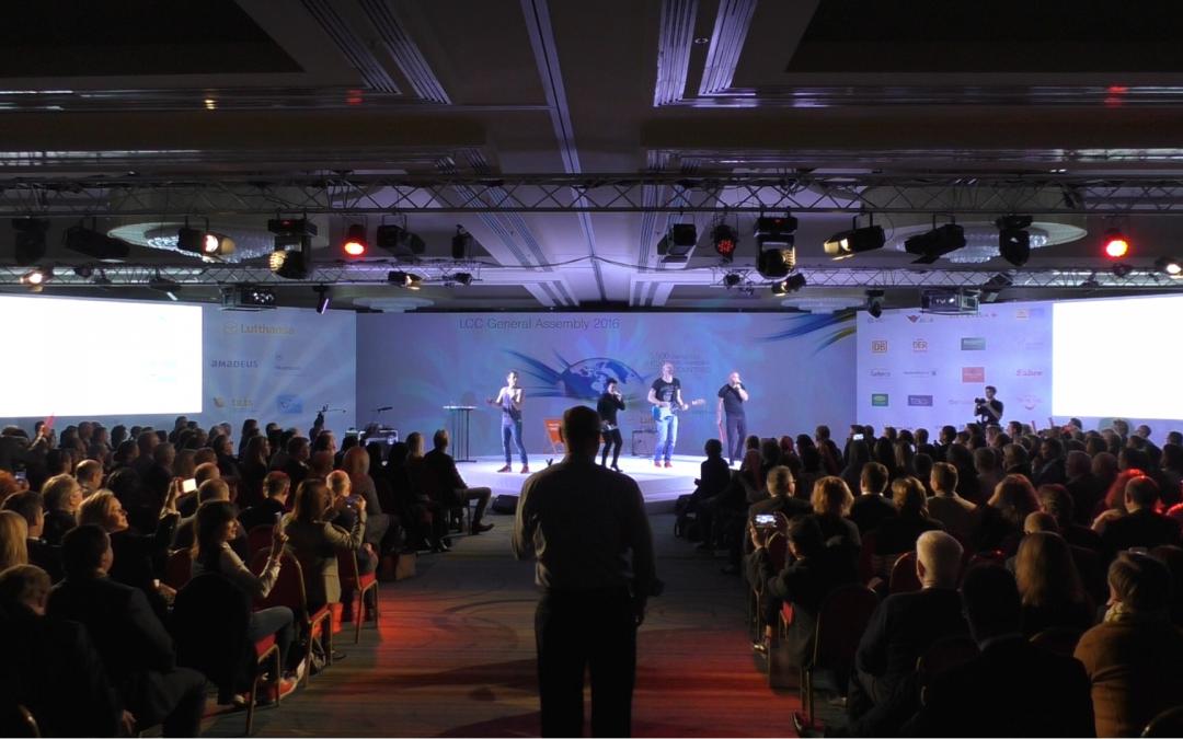 Teampercussion für LufthansaCityCenter in Rom (mit Video)